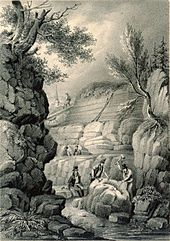 170px-Sketch_of_Tilgate_Quarry_with_Gideon_Mantell_Overseeing_the_Uncovering_of_Fossils