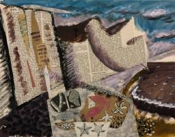 Beach with Starfish circa 1933-4 by John Piper 1903-1992